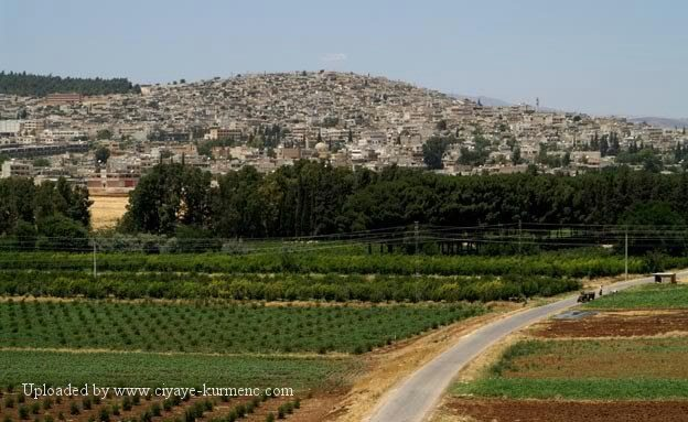 The city of Afrin, Syria, before its occupation by Turkey.